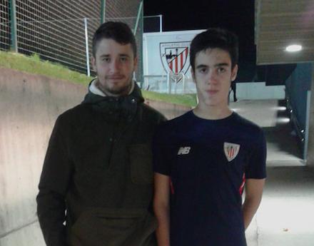 Markel Sierra con el Athletic
